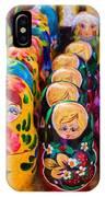 Traditional Russian Matrushka Nesting Puzzle Dolls IPhone Case