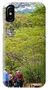 Trail To Waterfall In Vicente Perez Rosales National Park Near Puerto Montt-chile IPhone Case