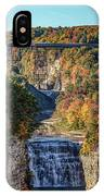 Train Over Letchworth IPhone Case