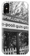 train station at Llanfairpwllgwyngyllgogerychwyrndrobwllllantysiliogogogoch anglesey wales with name IPhone Case