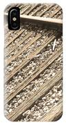 Train Tracks Sepia Triangular  IPhone Case