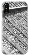 Train Tracks Triangular In Black And White IPhone Case