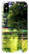 Tranquil Landscape At A Lake 1 IPhone Case