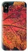 Translucent Red Oak Leaf Study IPhone Case