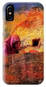 Travel Exotic Woman On Ramparts Mehrangarh Fort India Rajasthan 1h IPhone Case