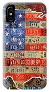 Travel The Usa One Plate At A Time License Plate Art By Design Turnpike IPhone Case