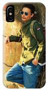 Traveling Man At Rest IPhone Case