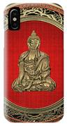Treasure Trove - Gold Buddha On Black Velvet IPhone Case