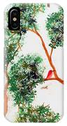 Tree And Red Birds 2 IPhone Case