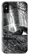 Tree At Falls In Black And White IPhone Case
