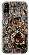 Tree Bark With Knothole IPhone Case
