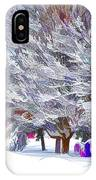 Tree Branches Covered By Snow  IPhone Case
