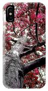 Tree Canopy Red IPhone Case
