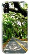 Tree Covered Road IPhone Case