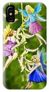 Tree Fairies On The Weeping Willow IPhone Case