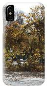 Tree Meets Hurricane Sandy By The Fair Lawn Nj Post Office IPhone Case