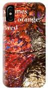 Tree On Fire - Haiku IPhone X Case