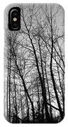 Tree Silhouette Bw IPhone Case