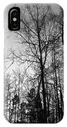 Tree Silhouette II Bw IPhone Case