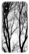 Tree Silhouettes In Black And White IPhone Case