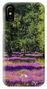 Tree Stumps In Common Heather Field IPhone Case