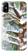 Tree With White Fluffy Snow IPhone Case