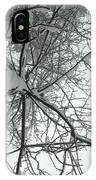 Tree Wrapped In Snow IPhone Case