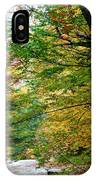 Trees Along The Flumes Trail IPhone Case