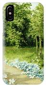 Trees And Flowers Country Scene IPhone Case