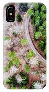 Trees And Path From Above Drone Photography IPhone Case
