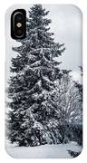 Trees And Snow IPhone Case