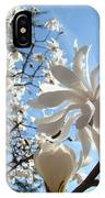 Trees Art Prints White Magnolia Flowers Baslee Troutman IPhone Case