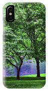 Trees By A Pond IPhone Case