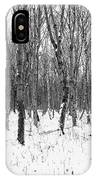Trees In Winter Snow, Black And White IPhone Case