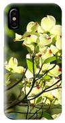 Trees Landscape Art Sunlit White Dogwood Flowers Baslee Troutman IPhone Case