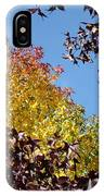 Trees Landscape Blue Sky Art Prints Fall Leaves IPhone Case