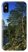Trees On An Island In A Lake, Lake IPhone Case