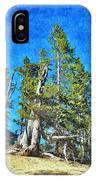 Trees On The Edge 2 IPhone Case