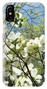 Trees Sunlit White Dogwood Art Print Botanical Baslee Troutman IPhone Case