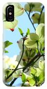 Trees White Dogwood Flowers 9 Blue Sky Landscape Art Prints IPhone Case