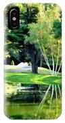 Trees With Mirror Lake 2 IPhone Case