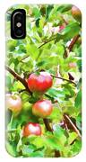 Trees With Red Apples In An Orchard IPhone Case