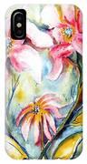 Tres Fleurs In Heat IPhone Case