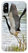 Tri Colored Heron Takeoff IPhone Case