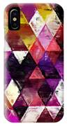 Triangles Impressionism IPhone Case