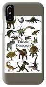 Triassic Dinosaurs IPhone Case