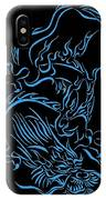 Tribal Line Chinese Dragon 1 IPhone Case