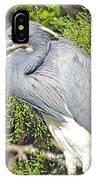 Tricolor Heron Profile IPhone Case