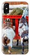 Trip Of Goats At Feeding Time IPhone Case