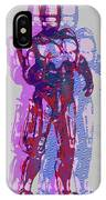 Triple Robocop Rbp IPhone Case
